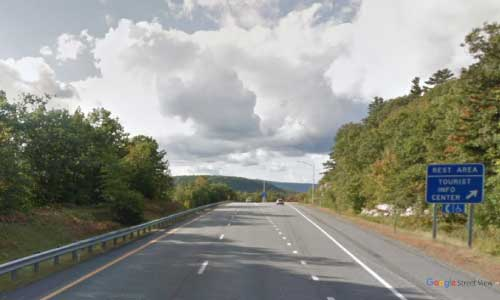 nh interstate 89 new hampshire i89 springfield rest area mile marker 40 northbound off ramp exit