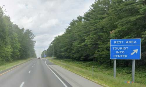 nh interstate 93 new hampshire i93 canterbury rest area mile marker 51 northbound off ramp exit