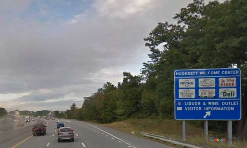 nh interstate 93 new hampshire i93 hooksett service plaza mile marker 31 northbound off ramp exit