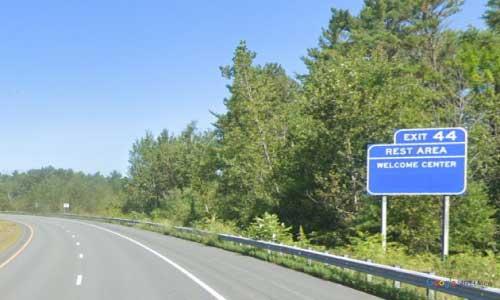 nh interstate 93 new hampshire i93 littleton welcome center mile marker 125 northbound off ramp exit