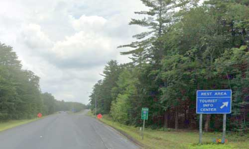nh interstate 93 new-hampshire i93 sanbornton rest area mile marker 61 southbound off ramp exit