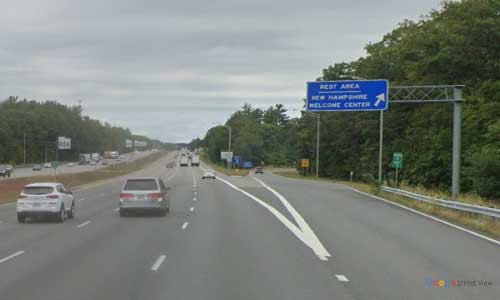 nh interstate 95 new hampshire i95 seabrook welcome center mile marker 0.5 northbound off ramp exit